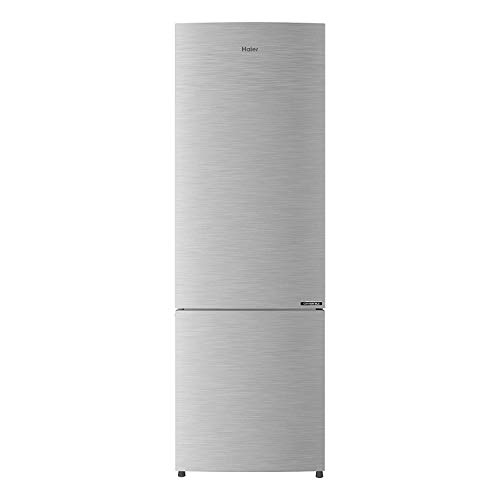 Haier 276L 3 Star  2019  Frost Free Bottom Mount Double Door Refrigerator  HRB 2963BS E, Brushline Silver