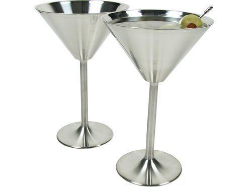 Stainless Steel Martini Glasses Set of 4 (Stainless Steel Martini Glass)