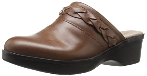Easy Spirit Womens Pabla Mule Dark Natural Leather