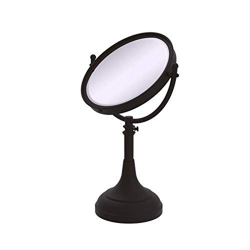 Allied Brass DM-1/2X-ORB 8-Inch Mirror with 2x Magnification, 17-23-1/2-Inch H, Oil Rubbed -