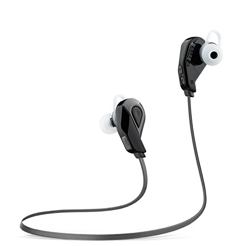 Bluetooth Kopfhörer 4.1 Wireless Sport Stereo Headset Technologie und Mikrofon der Freisprechfunktion Start SJSW In-Ear-Kopfhörer für Handys iPhone iPad Laptops Tablets Smartphones (Schwarz)