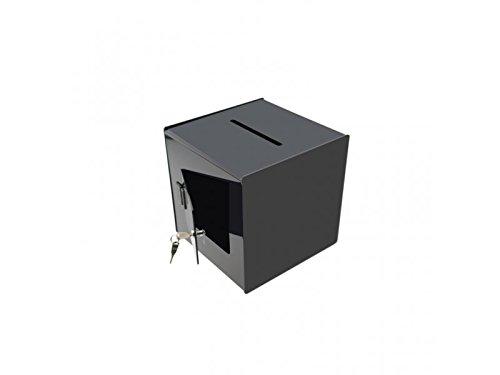 Black 12''x12'' Locking Suggestion Ballot Box