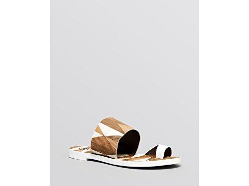 Tory 5 Kempner Flat Mosaico M Women's White 5 Slide Burch rSqnrvaA