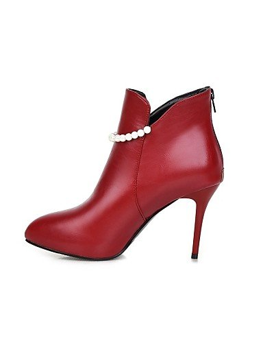 Evénement Talon Femme us5 Uk3 Rouge Bottes Similicuir La Aiguille Habillé amp; Chaussures Eu35 À Xzz Cn34 Soirée Blanc Red Mode Noir wzFq11