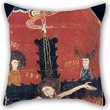 Alphadecor Cushion Covers 18 X 18 Inches / 45 By 45 Cm(both Sides) Nice Choice For Kids,floor,valentine,dance Room,monther,father Oil Painting Anonymous, Catalan - The Descent From The Cross (Blink 182 Halloween Poster)