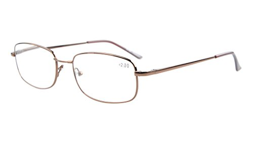 Eyekepper Bridge-flex Memory Titanium Mens Womens Spring Hinges Reading Glasses Brown - Glasses Bridge