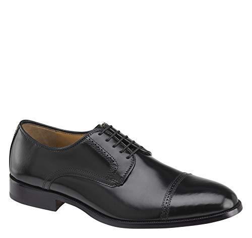 Johnston & Murphy Men's Bradford Cap Toe Black Brush-Off Leather 10 D US ()