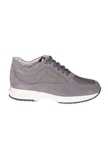 Hogan Herren HXM00N00E10B2A0PLA Grau Wildleder Sneakers