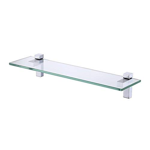 KES Tempered Glass Shelf, Bathroom Shelf with 19.6 Inch Rect