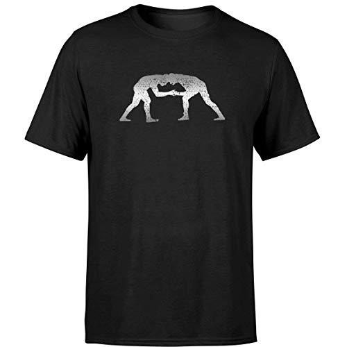 Wrestler Wrestle Grappler Gift Wrestling Vintage T Shirt Black/XL