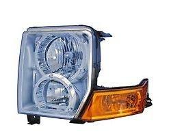 2006 - 2010 Jeep Commander Driver Headlamp Headlight (with Halogen bulbs) NEW 55396537AI CH2518117 2wd Suv