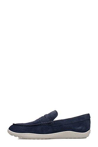 Tods Mens Xxm08a00010re0u611 Mocassini In Pelle Scamosciata Blu