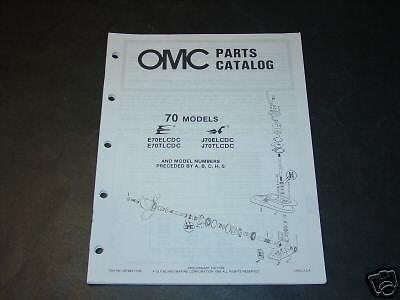 1986 OMC OUTBOARD MOTOR 70 HP PARTS MANUAL (70 Hp Parts Manual)