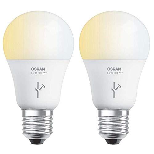 Sylvania Osram Lightify 60 Watt A19 Tunable Smart Home LED Light Bulb (2 Pack)