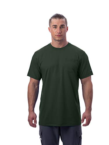 - Arctic Cool Men's Instant Cooling Short Sleeve Pocket Workwear Shirt Performance Tech Breathable UPF 50+ Sun Protection Moisture Wicking Comfortable Work Quick Drying Top, Hunter Green, XL