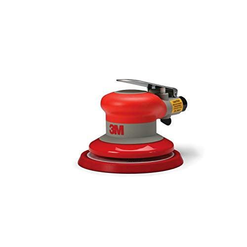 3M Random Orbital Sander - Pneumatic Palm Sander - 5' x 3/16' Diam. Orbit - Stikit Disc Pad - For Wood, Composites, Metal - Original Series