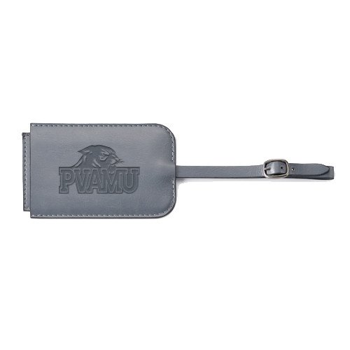 Prairie View A&M Fabrizio Grey Luggage Tag 'Official Logo Engraved' by CollegeFanGear