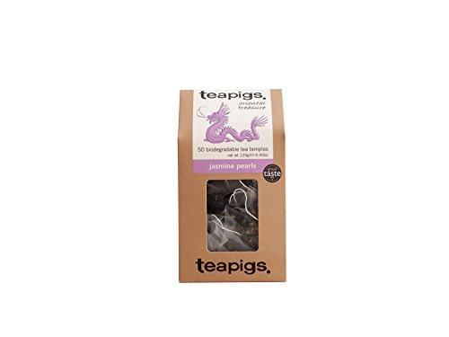 teapigs Jasmine Pearls Green Tea, 50 Count