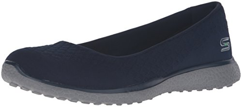 Skechers Microburst-One-Up Donna US 8.5 Blu Mocassini