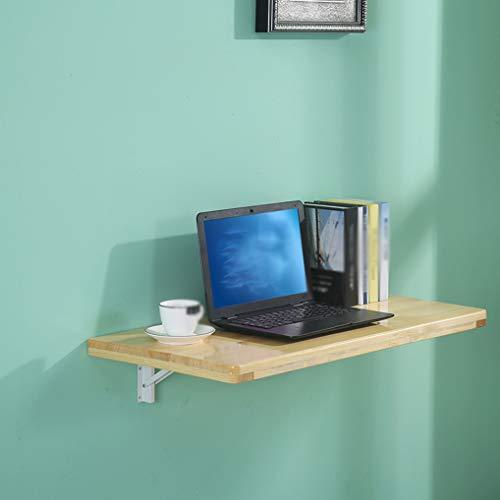 LHSG Fällbart väggmonterat bord, väggmonterad drop-Leaf bord matbord skrivbord, massivt trä väggmonterade barbord, perfekt tillägg till hem/kontor/kök