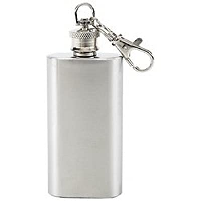 Maxam 2oz Stainless Steel Key Chain Flask
