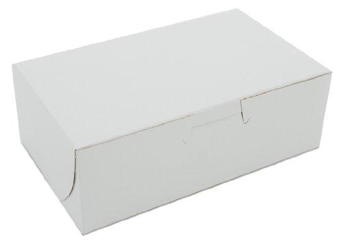 Southern Champion Tray 0911 Clay Coated Kraft Paperboard White Non Window Lock Corner Bakery Box, 6-1/4