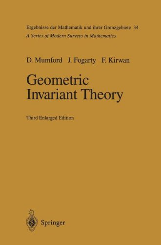 Geometric Invariant Theory (Ergebnisse der Mathematik und ihrer Grenzgebiete. 2. Folge)