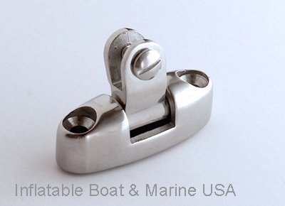 Inflatable Boat & Marine USA Bimini Top Swivel Deck Hinge - Fittings/Hardware 316 Marine Stainless Steel - Pack of 2 Each by Inflatable Boat & Marine USA
