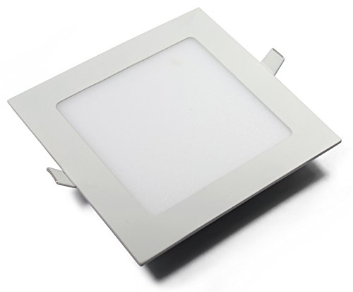 CMC LED Recessed Light, 18W LED Panel Lamp, Square with Driver Fixture Kit, 8-inch Ultra-Thin Non-Dimmable, for Home Office Commercial LED Down Light, LED Ceiling Light (Cool White)
