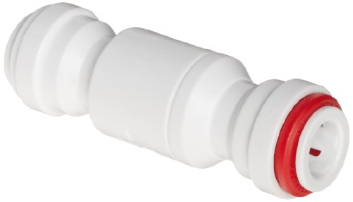 John Guest Acetal Copolymer Tube Fitting, Imperial Single Check Valve, 1/4