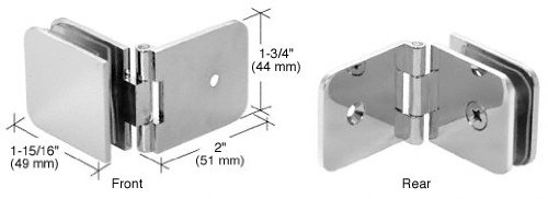 C.R. LAURENCE ADJ037CH CRL Polished Chrome Adjustable Wall Mount Glass Clamp ()