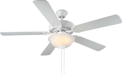 Monte Carlo BF2-WH Traditional 52`` Ceiling Fan from HomeBuilder II Collection in White Finish, See Image