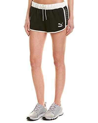 White Flourish - PUMA Women's Flourish Touch of Life Shorts Puma Black/Whisper White Medium 2