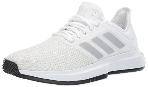 (adidas Men's Gamecourt, White/Matte Silver/Black, 11 M US)