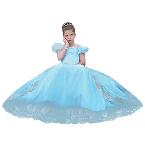 Sunbona  Toddler Baby Girls Tutu Skirts Dress Kids Summer Party Outfit Fancy Dress Costume Princess Cosplay Wedding Dresses ()
