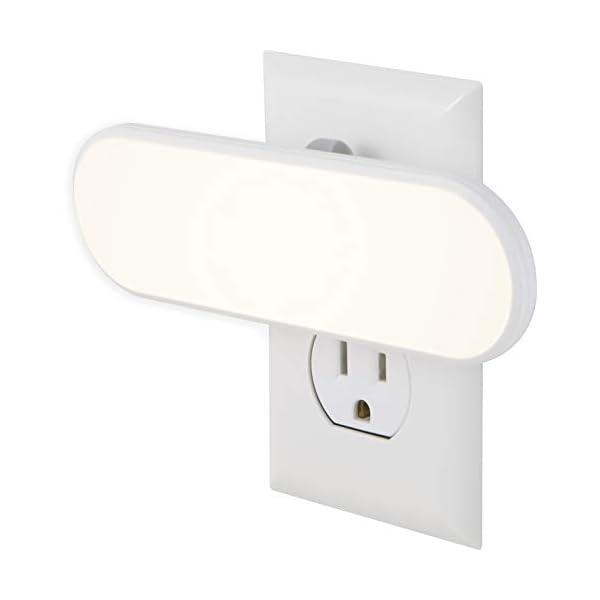 GE Ultrabrite LED Light Bar, 100 Lumens, Plug-in, Dusk-to-Dawn Sensor, Auto/On/Off Switch, Home Décor, Ideal for Bedroom, Bathroom, Nursery, Kitchen, Hallway, White, 12498, 1 Pack