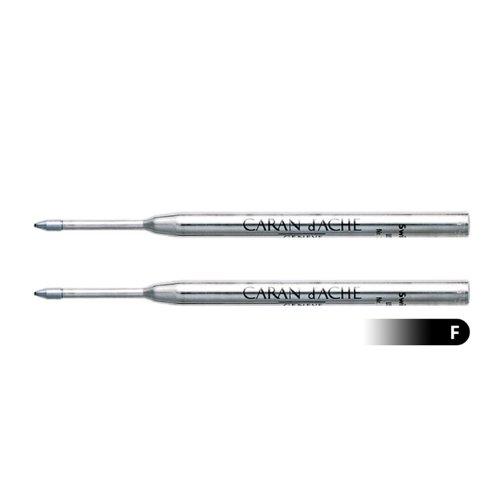 Caran D'ache Goliath Ballpoint Pen Refill Fine Black (Pack of 2)