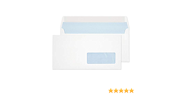 80gr shipment of mail dl resistant white kraft 110 x 220 mm 500 envelopes