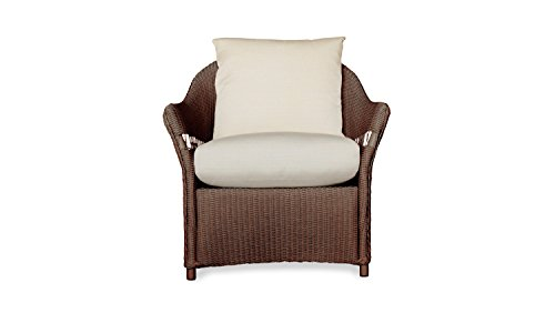 Lloyd Flanders 72202-070-910 Freeport Collection Lounge Chair in Chocolate Loom Finish, Dupione Deep Sea (Patio Furniture Lloyd)