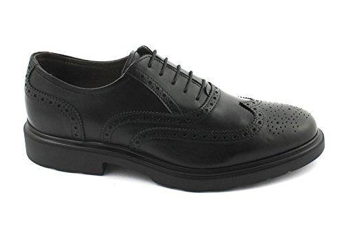 Noirs En Britannique Habillées Giardini 05283 Nero Cuir Derby Black Hommes Jardins Pour Chaussures qv8447Fxw