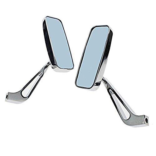 Monland Motorcycle Rearview Mirrors Chrome 8//10Mm For Harley Yamaha