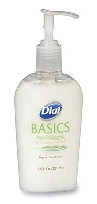 Dial Basics HypoAllergenic Liquid Hand Soap in a Dispenser Pump (7.5 oz.) (10 Bottles) - - Soap Hand Ab