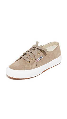 Superga Women's 2750 Sueu Fashion Sneaker, Sand/Gold, 41.5 EU/10 M US