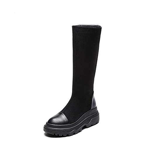 Women's Fashion Booties Round Toe Boots Waterproof Boots Snow Boots(Black Lable 37/6.5 B(M) US Women)