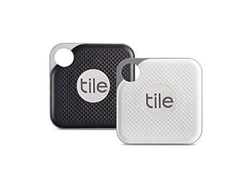 (Tile Pro with Replaceable Battery - 2 pack (1 x Black, 1 x White))