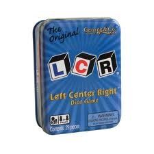 LCR® Left Center Right™ Dice Game - Blue Tin