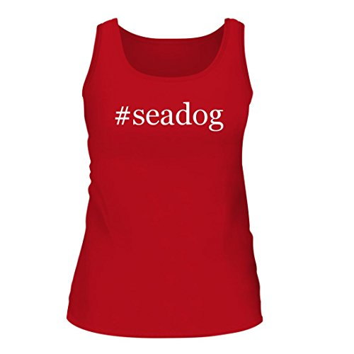 #seadog - A Nice Hashtag Women's Tank Top, Red, (Facebook Dog Tank)