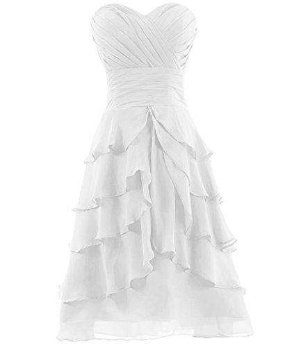 H.S.D Girls Relaxed Ruffles Modification Mini Length Special Occasion Dress White