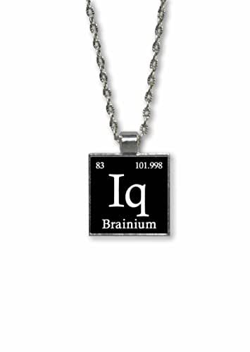 Amazon Com Element Iq Brainium Fake Periodic Table Of Elements Pendant Necklace Handmade