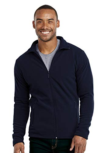 Men's Polar Fleece Zip Up Jacket (XL, Navy) (Best Polar Fleece Jacket)